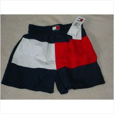 NWT $12 Retail Boy's Tommy Hilfiger Boxers Boxer Shorts Sz XS 2-4 red white blue on eBid United States