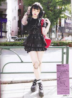 Japanese Goth fashion.