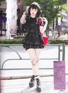 Japanese Goth fashion.