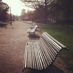 Park benches in Paris... Park benches are special - and a road trip to share one in Paris ...