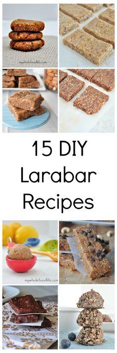 15 DIY Larabar recipes. Say goodbye to store bought forever.  Vegan, gluten free and paleo.