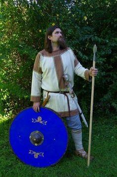 Lombard warrior, VI c., Cividale del Friuli, grave 18, Santo Stefano in pertica