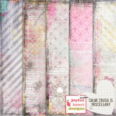 Check out Color Crush 15 {miscellany} by Joyful Heart Designs on Creative Market
