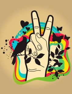 ✪☯☮ॐ American Hippie Psychedelic Art Peace Sign ☮