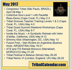 Have you checked TribalCalendar lately? Check out these events in May 2017! #tribalcalendar #bellydance