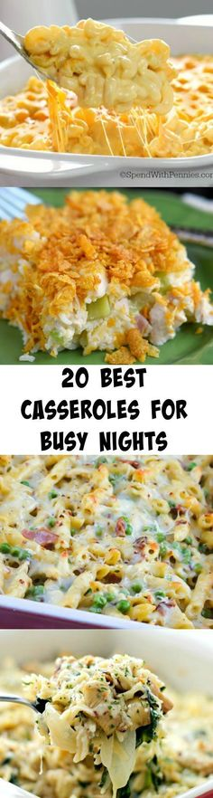 Everyone needs these recipes!!! 20 of the BEST Casseroles for Busy Nights!