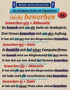 German grammar - Sich bewerben
