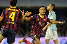 Alexis Sánchez marca ante el Celta su sexto gol de la temporada