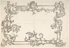 Rococo frame design, anonymous, Italian, 18th century