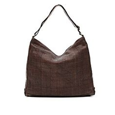 c167a4405de2 Small bag in brown leather with weaving
