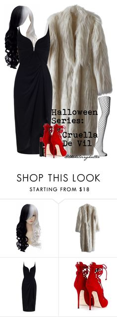 """""""Costumes// Cruella De Vil"""" by thehelsinghatter ❤ liked on Polyvore featuring Zimmermann, Giuseppe Zanotti and Wolford"""