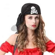 Halloween Accessories Cosplay Pirate Headscarf Skull Cap, it's your private to wear it.