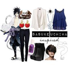 Sasuke Uchiha inspired outfit from Naruto Shippuden.