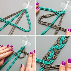 se beads and jewelry thread to DIY this spring necklace.