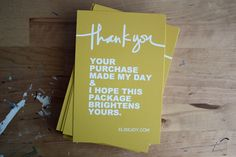 Thankyous to print... overnightprints.com
