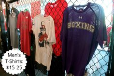 Men's t-shirts from $15-25.