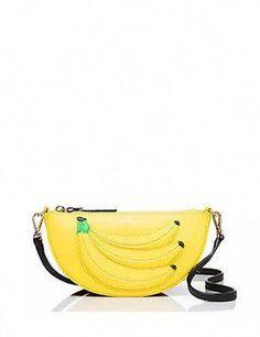 Kate Spade New York Flights of Fancy Bananas Crossbody Gold Rate, New Bag, Saddle Bags, Designer Handbags, Kate Spade, Fancy, Purses, Zip, Yellow