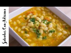 How to prepare blanquillos or white beans - Sabados Con Adriana Colombian Food, Latin Food, Looks Yummy, White Beans, Chana Masala, I Foods, Cravings, Carrots, Brunch
