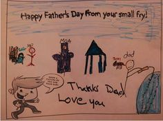 Thanks to all of the small fries who came in and created custom Father's Day cards for their dads! Fathers Day Ecards, Happy Fathers Day, Fries, Dads, Love You, Thankful, Fun, Happy Valentines Day Dad, Te Amo