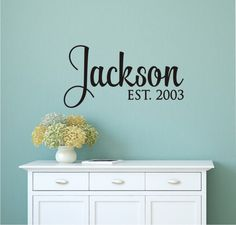 Family Name Decals Name Wall Decal Monogram Wall By LucyLews - Custom removable vinyl decals