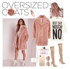 """""""#OversizedCoats"""" by martinadlc ❤ liked on Polyvore featuring Missguided, Kendall + Kylie, Miss Selfridge, Moschino, Topshop, Cutler and Gross, Maybelline and Salvatore Ferragamo"""