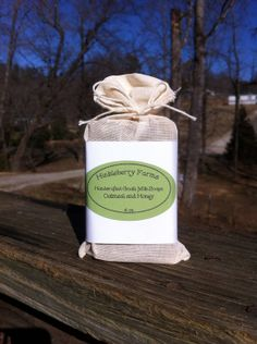Handcrafted Oatmeal and Honey Goat's Milk Soap by HinkleberryFarms, $4.25