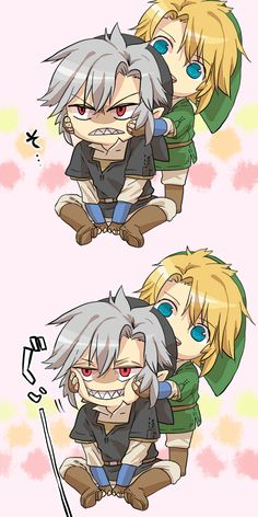 Link and Dark Link. This is kind of cute