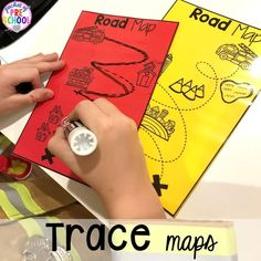 Neighborhood maps for the Fire Station dramatic play! It's so much for a fire safety theme or community helpers theme. Pre K Activities, Motor Skills Activities, Preschool Activities, Space Activities, Community Helpers Preschool, Dramatic Play Centers, Preschool Writing, Fire Safety, Safety Week