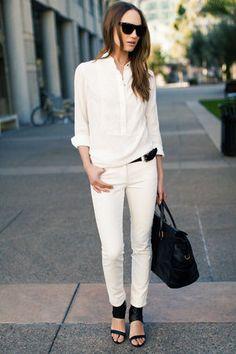 白パンツの着こなしがカッコいい!海外女性のおしゃれコーデ - NAVER まとめ