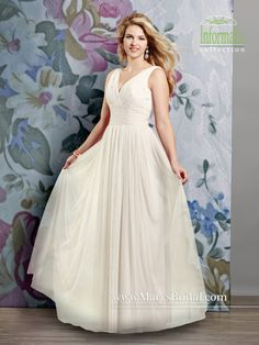 A-Line Tulle V-Neck Gown