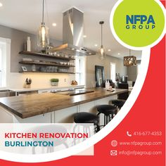 Find the best kitchen renovation contractors in Burlington. NFPA Construction Group is the best place for the kitchen renovation. We have experts and professionals team for this service. Construction Group, Kitchen Remodel, Kitchen Renovations, Open Concept, Cool Kitchens, Countertops, The Good Place, Furniture, Home Decor