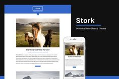 Stork Minimal WordPress Theme. WordPress Blog Themes. $5.00