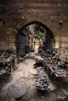 Arabian Bazar by Ibrahim Kayyat.