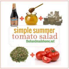 simple summer tomato salad   the handmade home