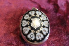 Antique Enamel and Gold Mourning Locket by 63and73 on Etsy