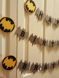 Batman birthday batman banner batman custom batman party