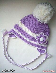 FREE PATTERN INSTRUCITONS Cochet cap for autumn-winter   make handmade, crochet, craft @ DIY Home Ideas