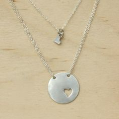 Piece of My Heart Necklace <3 from Sweet Blossom Gifts/ can punch out 3 hearts