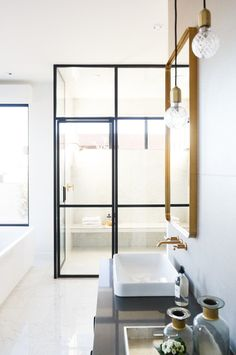 George Parade Home Tour: Master Suite — Salt Box Collective Gold Bathroom, Diy Bathroom Decor, Bathroom Interior Design, Modern Bathroom, Vanity Bathroom, Master Bathroom, Bathroom Designs, Bathroom Ideas, Vanity Design