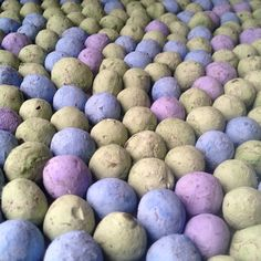 Earth Day Colored Seed Bombs ready to rock your garden's world. Just throw em' and grow em!