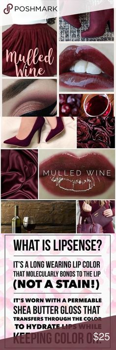 Mulled Wine LipSense 4-18 Hour Color LipSense is the premier product of SeneGence and is unlike any conventional lipstick, stain or color. It is waterproof, does not kiss-off, smear-off, rub-off or budge-off. It last from 4 to 18 hours.  It is vegan, lead free, wax free, GMO free and gluten free.  If you have never worn LipSense you will also need LipSense gloss to seal the color. Independent distributor for SeneGence  #459685 Makeup Lipstick