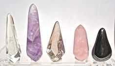 5 Polished Chakra Reiki Wrapping Wands Quartz by FenderMinerals, $30.00