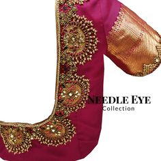 2017 grand wedding blouses for bride marriage pelli ki blouse aari work blouse designs for shadi heavy designer blouses for reception engagement half sarees Bridal Blouse Designs, Saree Blouse Designs, Blouse Patterns, Blouse Styles, Latest Maggam Work Blouses, Maggam Work Designs, Dress Indian Style, Indian Designer Wear, Latest Fashion Trends
