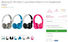 Get Beats by Dr. Dre Solo 2 Luxe Edition Wired On-Ear Headphones only $100 #coupons  Groupon offer Beats by Dr. Dre Solo 2 Luxe Edition Wired On-Ear Headphones for $99.99. Shipping is free.  Get Beats by Dr. Dre Solo 2 Luxe Edition Wired On-Ear Headphones only $100  Beats by Dr. Dre Solo 2 Luxe Edition Wired On-Ear Headphones (New)  On-ear headphones  In-line microphone and remote  Detachable RemoteTalk iOS cable controls tracks volume and calls  Flexible adjustable headband  Ergonomically… Beats By Dr, In Ear Headphones, Wire, How To Plan, Cord, Cable