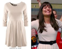 I thought for sure that Rachel's new dress from the Season 3 promo would be a four hundred dollar number by Milly or Kate Spade - luckily for you FashionofGleekers, it's a particularly lovely 25 dollar piece from H! Thanks Cat!  H Jersey Box Pleat Dress - £14.99 (approx. $USD 25.00 - actual price may vary slightly)  Worn with: Ralph Lauren belt  Also worn in:3x22 'Goodbye' withVintage hat,Ryan Ryan necklace,H bag,Marc by Marc Jacobs pumps,Heys USA lug