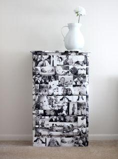 Decoupage photography dresser – Mod Podge Rocks