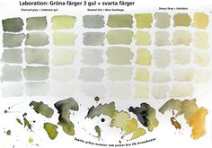Blacks/grays + yellows by Johan Ramberg. Watercolour Tutorials, Watercolor Techniques, Painting Techniques, Watercolor Mixing, Watercolor Paintings, Watercolours, Watercolor Journal, Color Mixing Chart, Color Charts