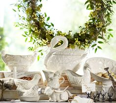 Seven Swans Swimming Soup Tureen | Pottery Barn