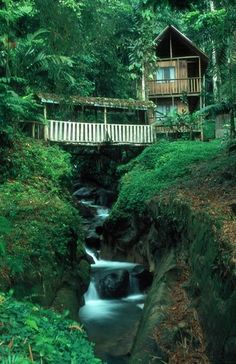 The Rios Tropicales Lodge nestled along the Pacuare River - Costa Rica. A great place to listen to the howler monkeys.