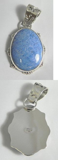 Other Artisan Jewelry 12519: Denim Lapis Sterling Silver Jewelry Handmade Pendant Cabochon Gemstone BUY IT NOW ONLY: $270.75